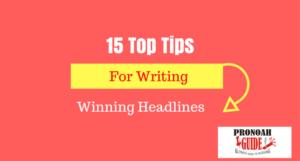 Writing winning headlines
