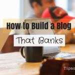 Build a Blog that banks