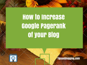 increase google pagerank