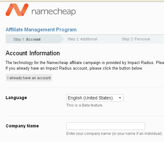 namecheap affiliate registration